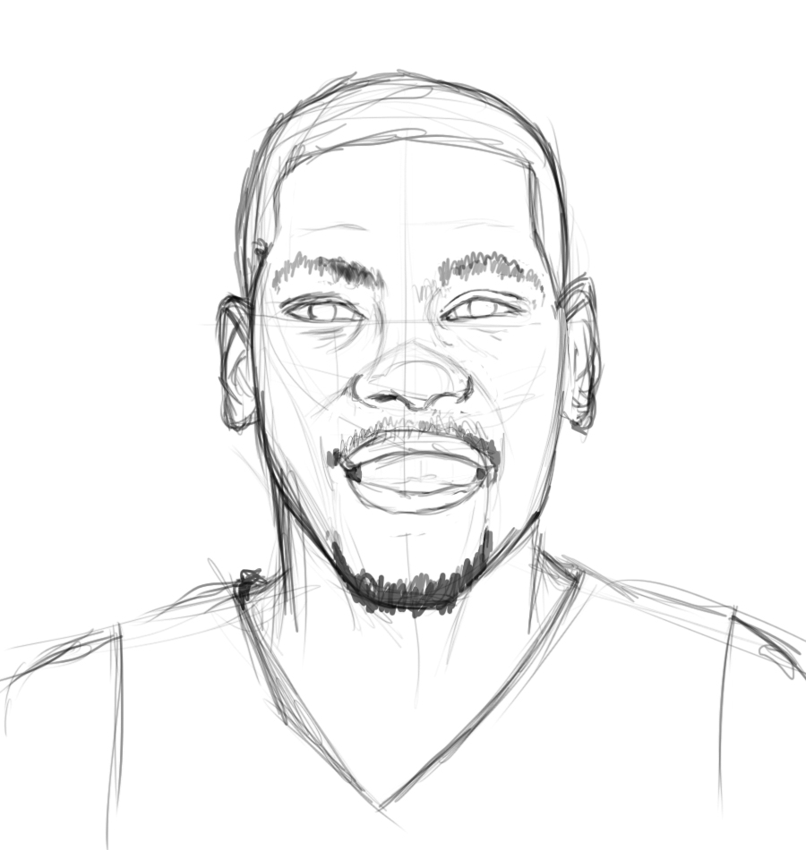 Kevin Durant Coloring Page  Kevin Durant Coloring